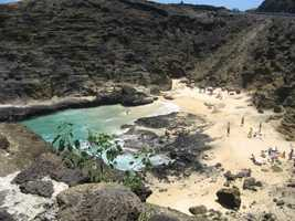 Private coves are romantic for your honeymoon in Hawaii.