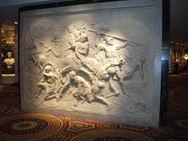 Artwork at Caesars Palace would make great wedding photo backgrounds.