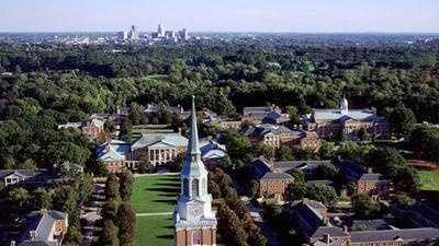 Wake Forest University Aerial Shot - 10297867