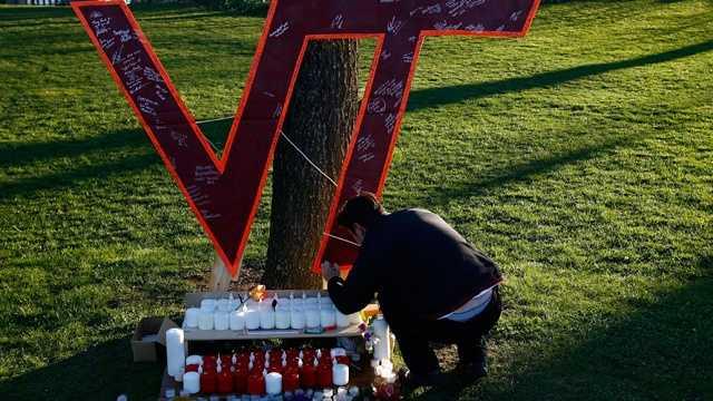 Virginia Tech shootings sign