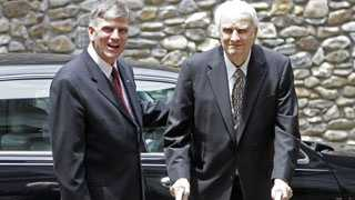 Franklin Graham with his father