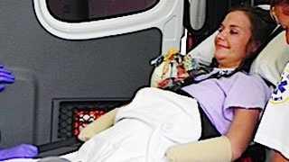 Aimee Copeland leaves hospital