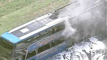 A bus caught fire on Interstate 85 just over the South Carolina line in Georgia on Wednesday. More information