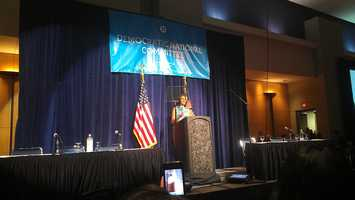 Mrs. Obama, her brother, and Pres. Chief Advisor, Valerie Jarrett spoke at the Black Caucus of the DNC.
