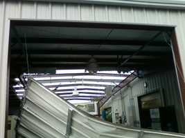 Roof was damaged at the Advance Machining on Monitor Drive in Anderson.