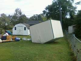 The following are pictures from the storm damage Monday night in Anderson.