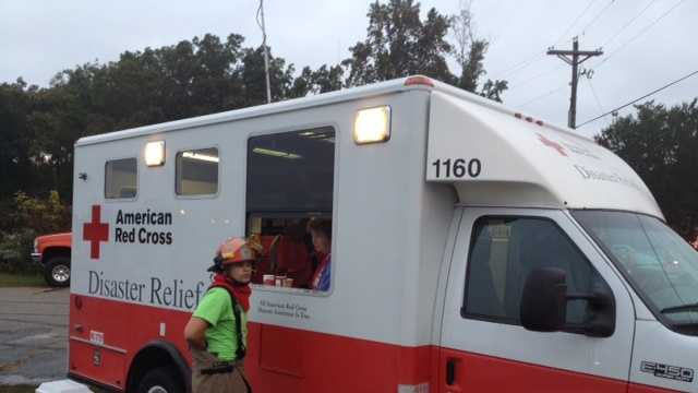 red cross responds to fire