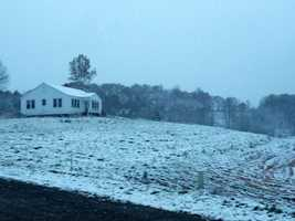 These pictures were taken from Western North Carolina on Monday afternoon and Tuesday morning.