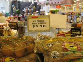 Ingles best price on white potatoes is $5.98 for a 5-pound bag.