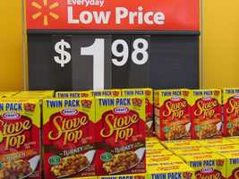 Walmart's twin pack of Stove Top stuffing is $1.98.