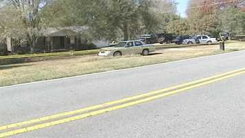 Investigators were at the home for hours.