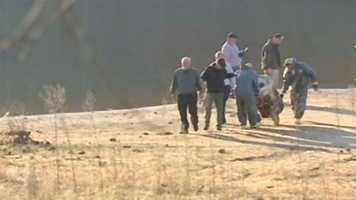 Thursday, Nov. 15: The second barrel is found in Lake Hartwell.