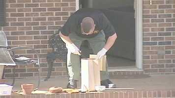 Items removed from the home include some knives.