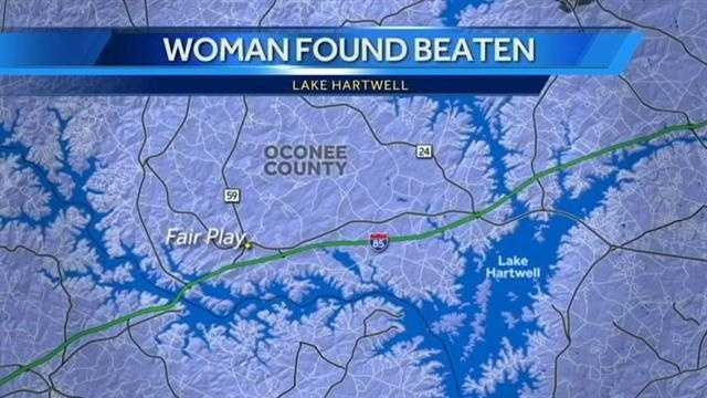 woman beaten map