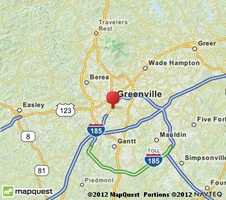 Someone in Greenville reported seeing 50 to 60 colored objects slowly moving across the sky on Nov. 3 at 10:05 p.m.