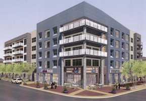 The Beach Company is planning 375 apartments, 16,000 square feet of retail and restaurant space and a parking garage on about 12 acres at the corner of Church Street and University Ridge in downtown Greenville. These are renderings of the project.