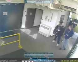 These are surveillance pictures of the persons of interest in the theft of meteorites at the Pisgah Astronomical Research Institute. FULL STORY