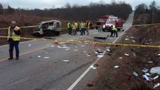 mail truck wreck