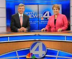 Michael anchors WYFF News 4 at 6 and 11 p.m. with Carol Goldsmith.