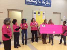 The students presented the check this morning.