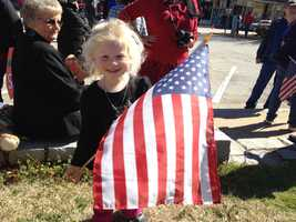 People of all ages came to show support.
