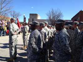 About 240 men and women from the Army National unit are leaving for Afghanistan.