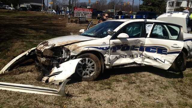 police car wrecks
