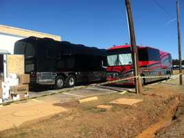Blake's tour bus at the Blind Horse Saloon