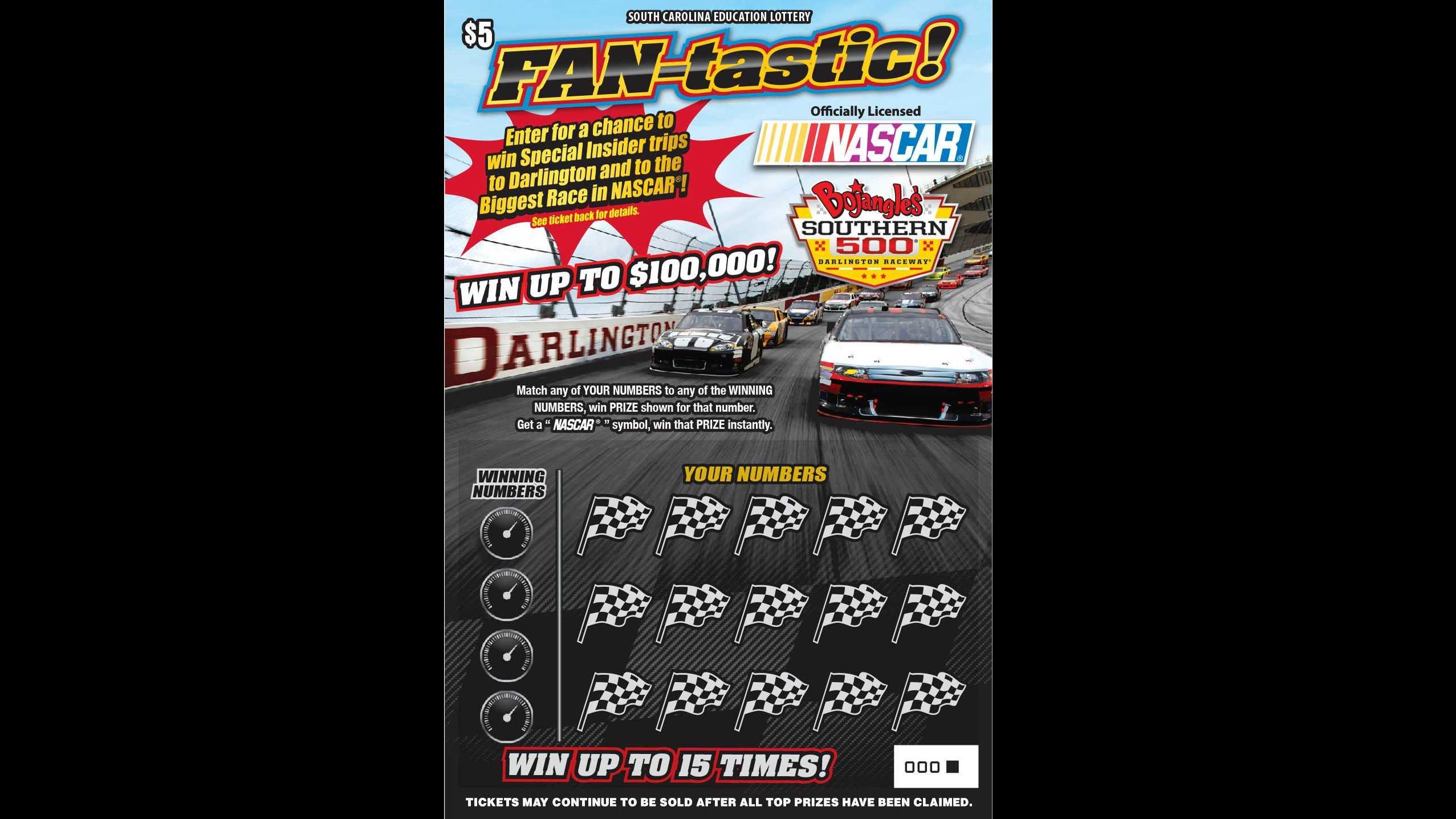 NASCAR lottery ticket