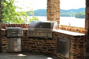 There's also an entertainment deck, fire pit and gourmet outdoor kitchen/grilling area.