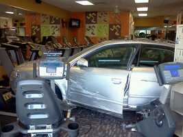 A driver somehow managed to crash into an Upstate gym Thursday afternoon.  FULL STORY