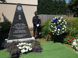 Sheriff Wright and those involved in the creation of the monument felt the best place for it was here at the Sheriff's Office on Howard Street.