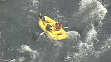 Authorities are searching for a man who they said fell off a raft into the Chattooga River.