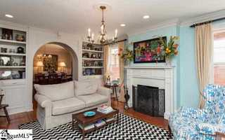 The home has five uniquely designed working fireplaces.