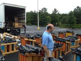 Take a behind the scenes look at what it takes to set up the Upstate's largest fireworks display.