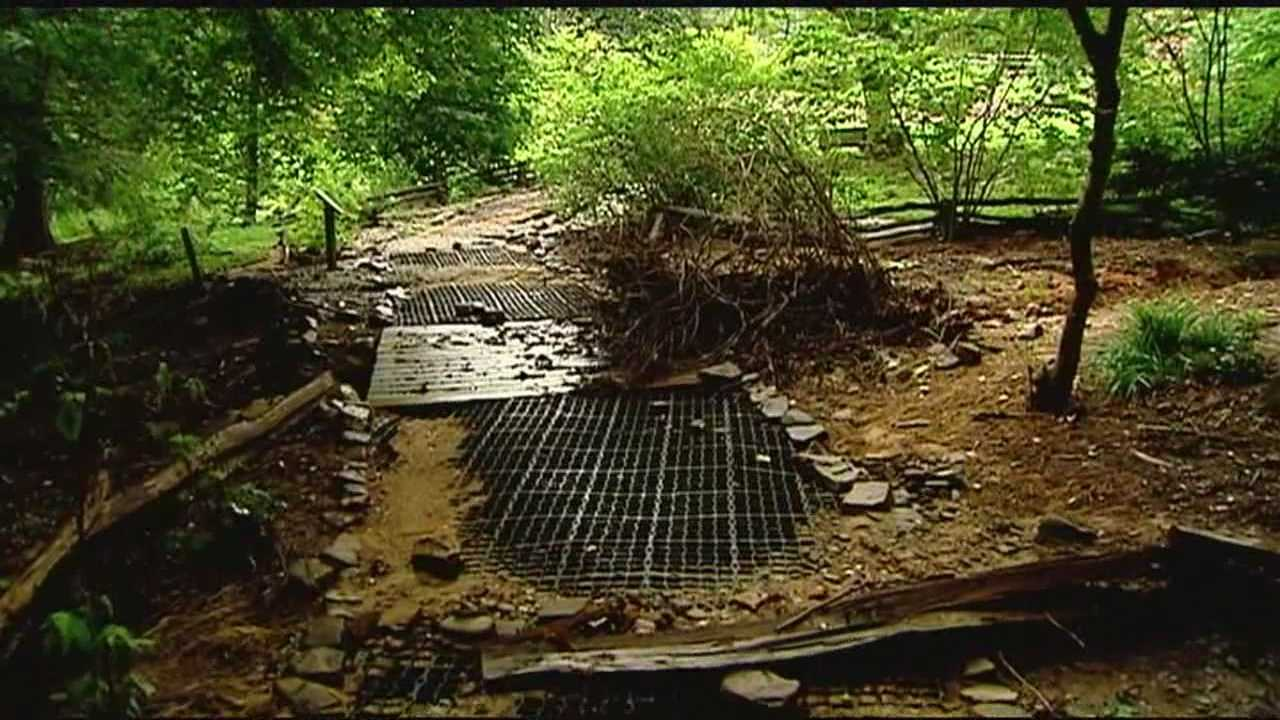 Expensive repairs will have to be made to the SC Botanical Gardens after heavy rains and flash floods damaged one of the walking trails