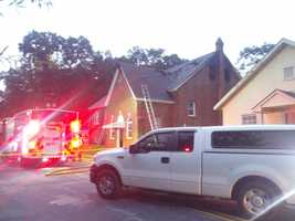 Church fire Wednesday night at Saxon Avenue and Hugh Street in the city of Spartanburg. Emmanuel Full Gospel Church burned. City fire department believes lightning may have caused the fire.