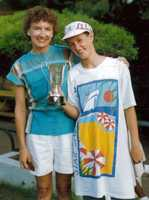 Beth was a competitive swimmer. In Zambia, she was national champion for girls ages 12 and under.