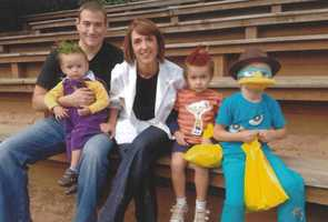 """The family does family themed Halloween costumes. Last year they were the characters from the Disney show """"Phineas and Ferb."""""""