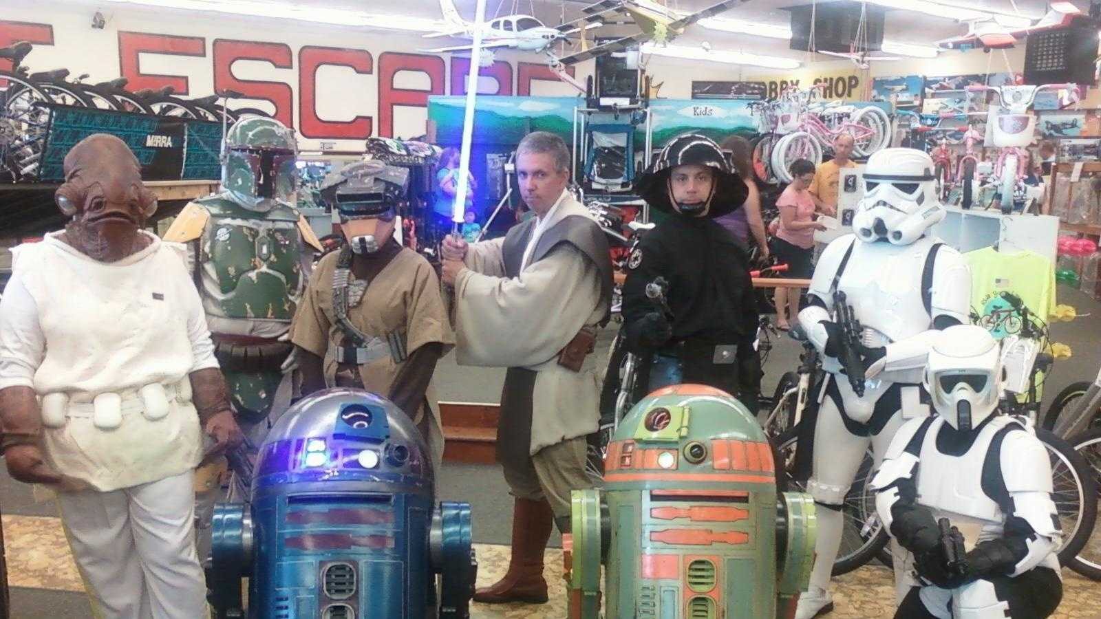 Star Wars characters at Great Escape