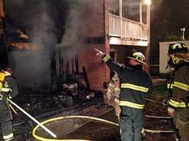 A fire forced the evacuation of the Azalea Apartments off Interstate 85 early Wednesday.