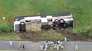 National Guard bus crash