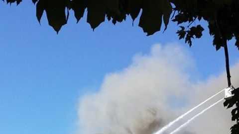 Multiple crews are battling flames at Walhalla Presbyterian Church