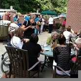 It was a sell out event - with 700 tickets sold. Perfect day for the crowd to spill out onto the patio at the Biltmore Doubletree Hilton Hotel