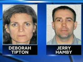 Deborah Lee Tipton, Jerry Chadwick Hamby: Tipton is accused of videotaped a 12-year-old girl for sexual purposes sending the videos to Hamby.