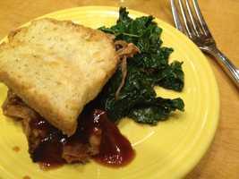 Tupelo Honey: BBQ pork & collard greens