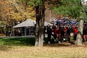 Asheville Officer Rob Bingaman died when his patrol car went off the Jeff Bowen Bridge. Bingaman was laid to rest on Monday. Click through to see images from his burial at the Western N.C. State Veteran's Cemetery in Black Mountain.