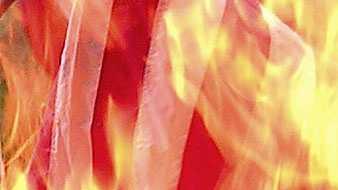 flag burned