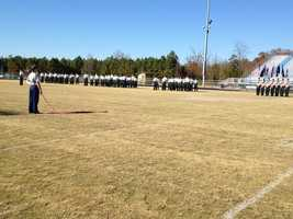 Pickens High School dedicated a memorial in memory of Pfc. Barrett L. Austin, who gave his life during Operation Enduring Freedom in Afghanistan.