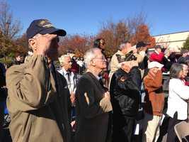 Veterans Day ceremony in Greenville